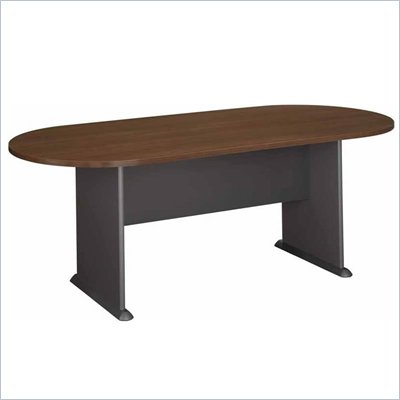 Bush Racetrack 611&quot; Wood Conference Table in Sienna Walnut