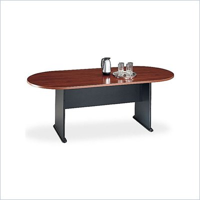 Bush Racetrack 611&quot; Wood Conference Table in Hansen Cherry