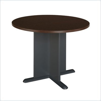 Bush Round 3.5 Wood Conference Table in Mocha Cherry