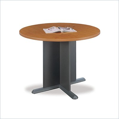 Bush Round 3.4 Conference Table with X-Shaped Base