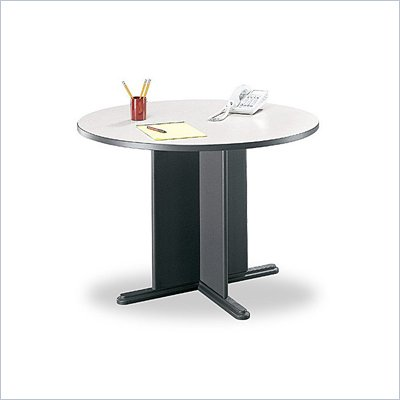 Bush 3.4 Round Conference Table in Slate and Graphite Gray