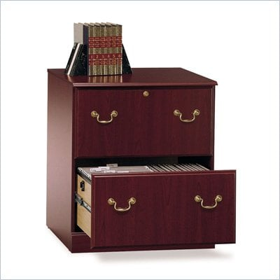 Bush Saratoga Executive 2 Drawer Lateral Wood File Cabinet in Cherry