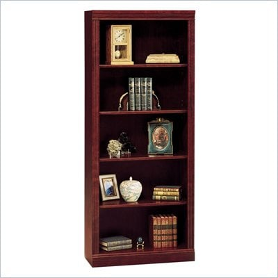 Bush Saratoga 5 Shelf 71&quot;H Wood Bookcase in Harvest Cherry