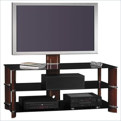 Bush 50&quot; Segments Wood Swivel TV Stand with Mount in Rosebud Cherry