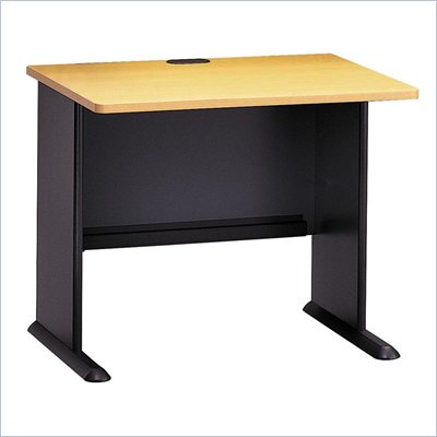 "Bush Series A 36"" Wood Desk in Beech"