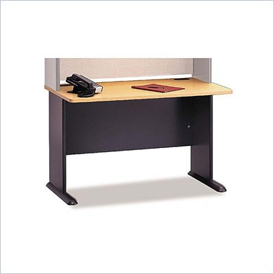 "Bush Series A 48"" Wood Desk in Beech"
