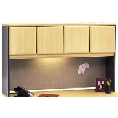 Bush Beech and Grey Advantage Series A 60&quot; Hutch