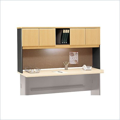 Bush Series A 72&quot; Wood Hutch in Beech and Grey