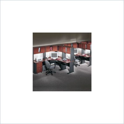 Bush Series A Hansen Cherry Corner Computer Office Suite