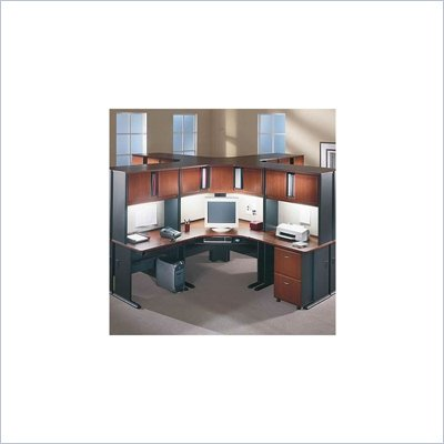 Bush Series A Hansen Cherry Corner Office Desk Cubicle Set