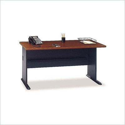 Bush Series A 60&quot; Wood Credenza Desk in Hansen Cherry