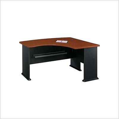 Bush WC94422 Series A Dark Cherry and Galaxy Right L-Bow Desk