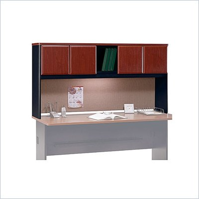 "Bush Series A 72"" Wood Hutch in Hansen Cherry"