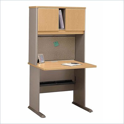 Bush Advantage Series 36 inch Cubicle Office Set in Light Oak