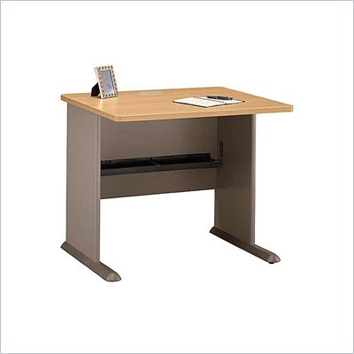 Bush Series A 36&quot; Wood Desk in Light Oak