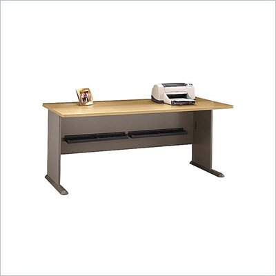 Bush Series A 72&quot; Wood Credenza Desk in Light Oak