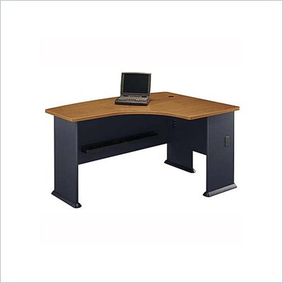 Bush WC57422 Series A Natural Cherry and Slate Right L-Bow Desk