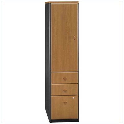Bush Series A Vertical Wood File Locker in Natural Cherry