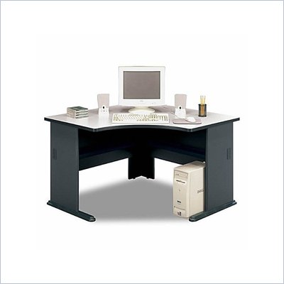 Bush Office Pro 48&quot; Corner Wood Desk in Slate