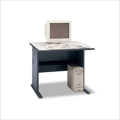 "Bush Series A 36"" Wood Computer Desk in Slate"