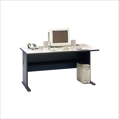 Bush Series A 60&quot; Wood Computer Desk in Slate