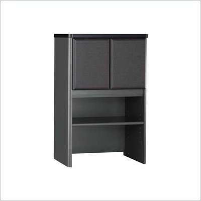Bush Series A Storage Hutch in White Spectrum/ Slate Grey