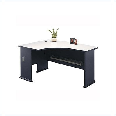 Bush Advantage Series Left L-Shape Bow Front Wood Computer Desk in Slate