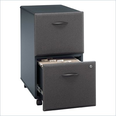Bush Series A 2 Drawer Vertical Mobile File Storage Cabinet in Slate Finish