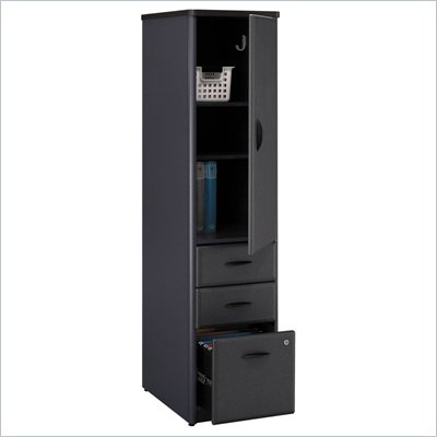 Bush Series A Vertical Wood File Storage Locker in Slate