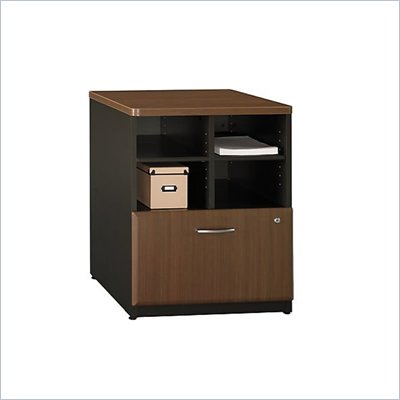Bush Series A Storage Cabinet in Sienna Walnut/Bronze