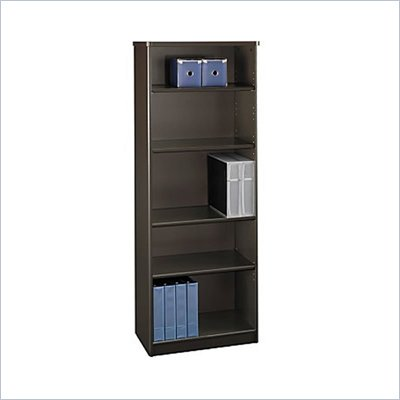 Bush Advantage Series A 5 Shelf Bookcase in Sienna Walnut/Bronze