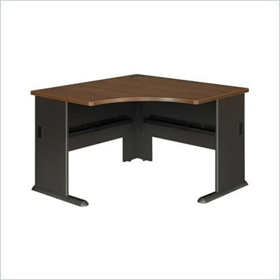 Bush Series A 48&quot; Corner Desk in Sienna Walnut/Bronze