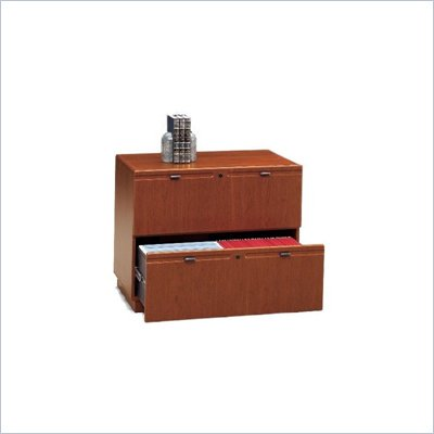 Bush 2 Drawer Lateral Wood File Cabinet in Hansen Cherry