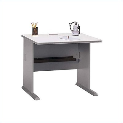 "Bush Series A 36"" Wood Credenza Desk in Pewter"