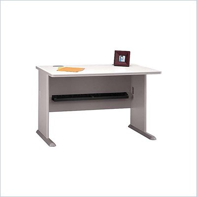 Bush Series A 48&quot; Wood Desk in Pewter