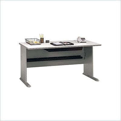 "Bush Series A 60"" Wood Desk in Pewter"