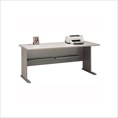 Bush Series A 72&quot; Wood Credenza Desk in Pewter