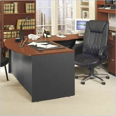 Bush Series C Right L-Shape Wood Executive Desk in Auburn Maple