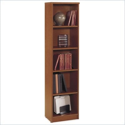 Bush Auburn Maple Series C Open Single Bookcase