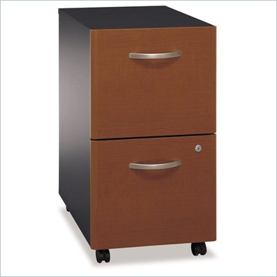 Bush Series C 2 Drawer Vertical Mobile Wood File Cabinet in Auburn Maple