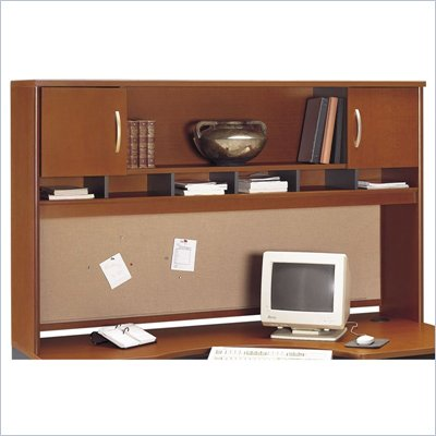 Bush Series C 71&quot; 2 Door Wood Hutch in Auburn Maple