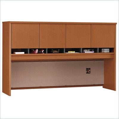"Bush Series C 71"" Four Door Wood Computer Hutch in Auburn Maple"