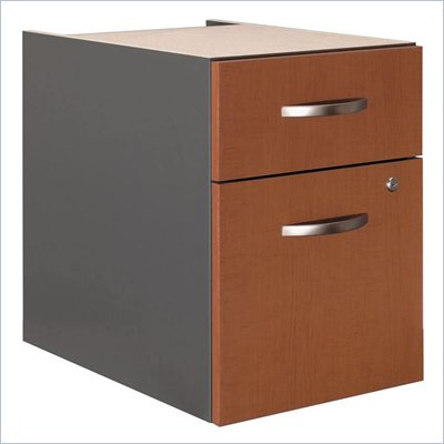 Bush Series C  2 Drawer Lateral Wood Pedestal in Auburn Maple