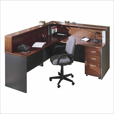 Bush Hansen Cherry Corsa Series L-Shape Reception Desk