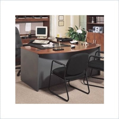 Bush Series C Executive Right L-Shape Wood Desk in Hansen Cherry