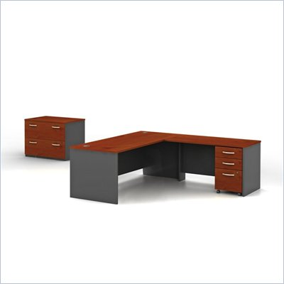 Bush Series C Hansen Cherry Professional Right L-Shaped Desk