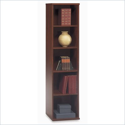 "Bush Series C Open Single 72""H 4 Shelf Wood Bookcase in Hansen Cherry"