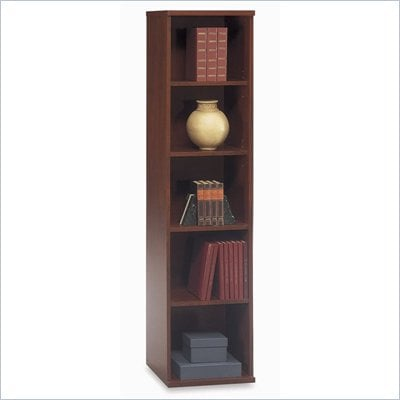 Bush Series C Open Single 72&quot;H 4 Shelf Wood Bookcase in Hansen Cherry