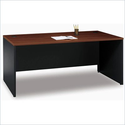 Bush Series C 72&quot; Wood Desk in Hansen Cherry