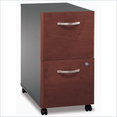 Bush Series C 2 Drawer Vertical Mobile Wood File Cabinet in Hansen Cherry